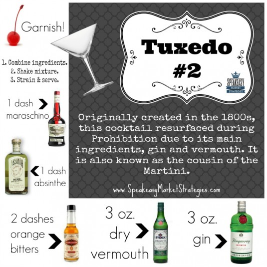 Tuxedo 2 Cocktail Recipe