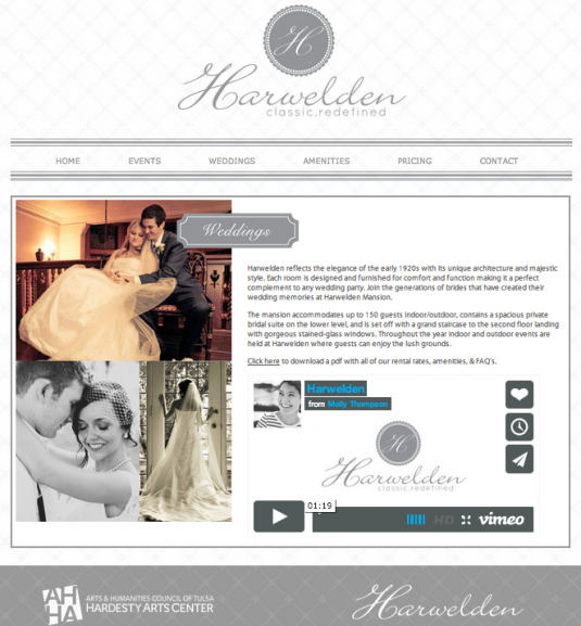 Harwelden Mansion Weddings Page