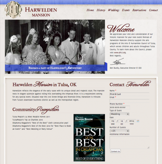 Old Harwelden Mansion Website