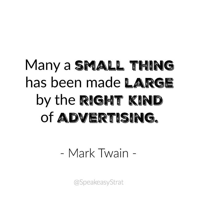 With the world of social media, Mark Twain really did get it right. I love that social media allows the little guys a place where they can make a bang with a small budget. Creativity is king in the digital world. . . . What are some creative ways you have marketed your business online? Interesting past campaigns?