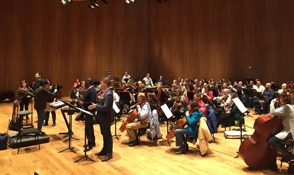 Opera Orchestra Of New York rehearsal for Parisina D'este