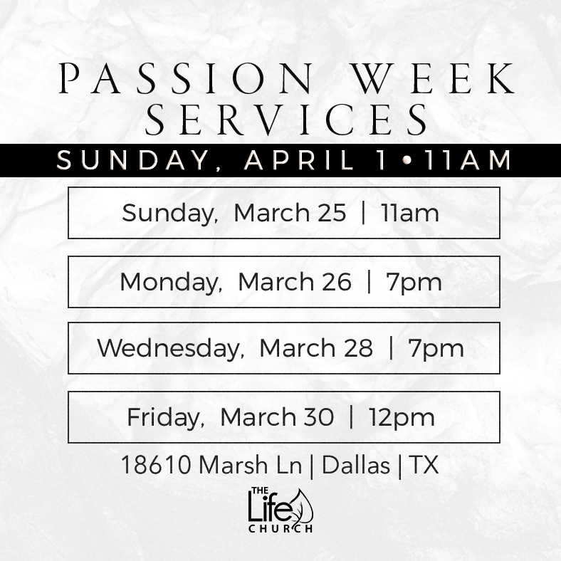 Passion Week Invite