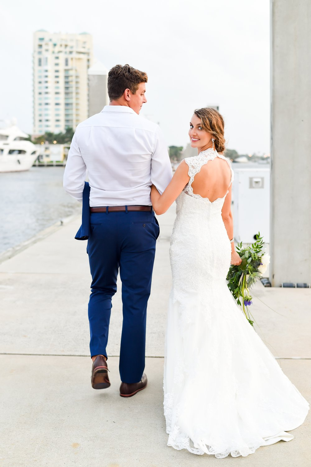 Erin & Nick  A classic, nautical wedding at Fort Lauderdale's largest super yacht marina: Bahia Mar.