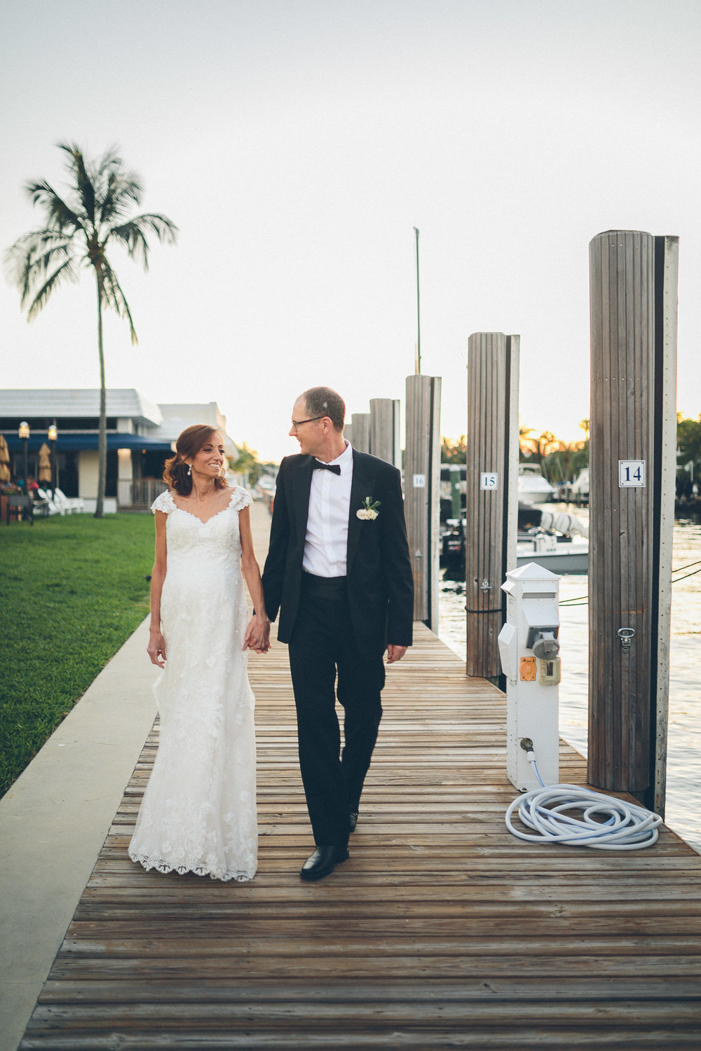 Soraya & David - A beautiful Lauderdale Yacht Club Wedding that is a sophisticated mix of nautical and traditional.