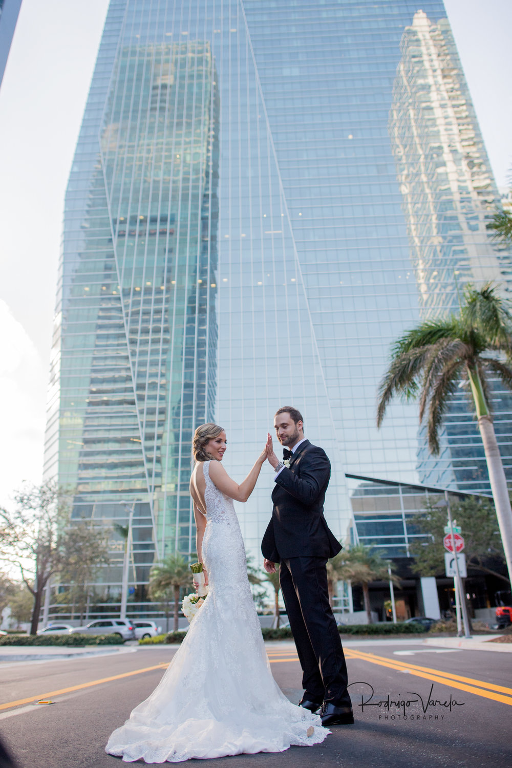 Patricia & Jonathan - Nothing beats the luxury of the Four Seasons Hotel in Brickell, Miami. With the pool deck and ballroom high up in to the sky, the city views were unbeatable.