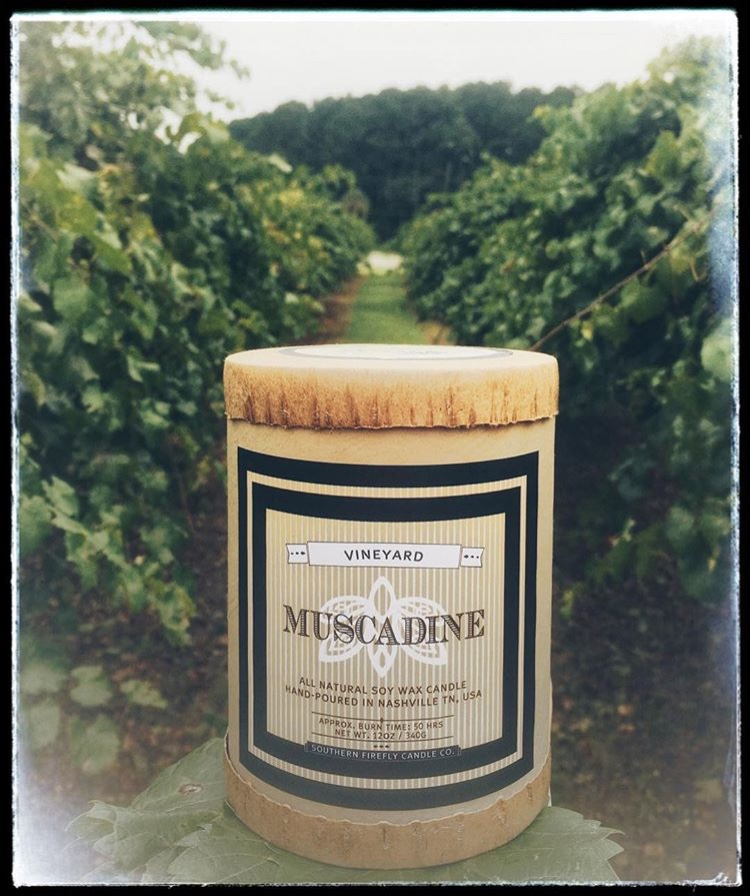 We have teamed with Southern Firefly Candle Co. to create a deliciously fragrant Muscadine candle with a burn Time 50 of hours! Now Available In Store Only.