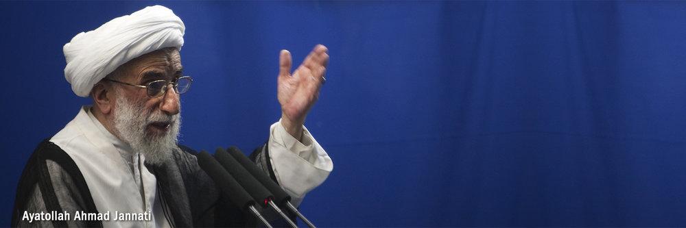 """I congratulate Ayatollah Jannati fordefending religious freedom in Iran."" - Zahra, Blue Iran"