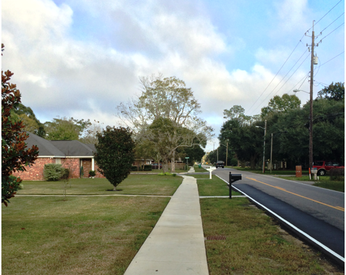 SAFE ROUTES TO SCHOOL - COMMISSION ROAD LONG BEACH, MS - The City of Long Beach desired to provide a safe route to Quarles Elementary for students walking along Commission Road from Daugherty Road to Alverado Drive.  This project consisted of constructing new sidewalks, installing crosswalks, signage and traffic calming light systems, and stripe bike and pedestrian lanes.  Garner Russell & Associates was retained by the City as prime consultant to provide complete engineering services for this project.   Scope of engineering services included design, preparation of bid documents, construction administration, handling the bidding process and inspection.  This project began on April 22, 2014, and was completed on schedule in 2015 with a construction cost of $286,400.