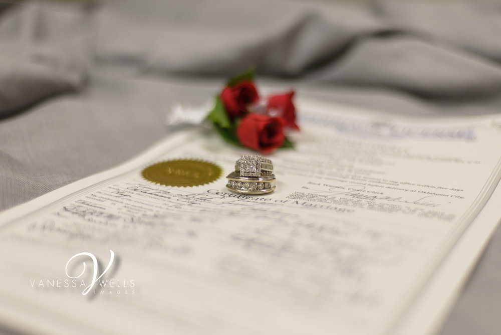 Wedding Photographer in OKC Ring Picture