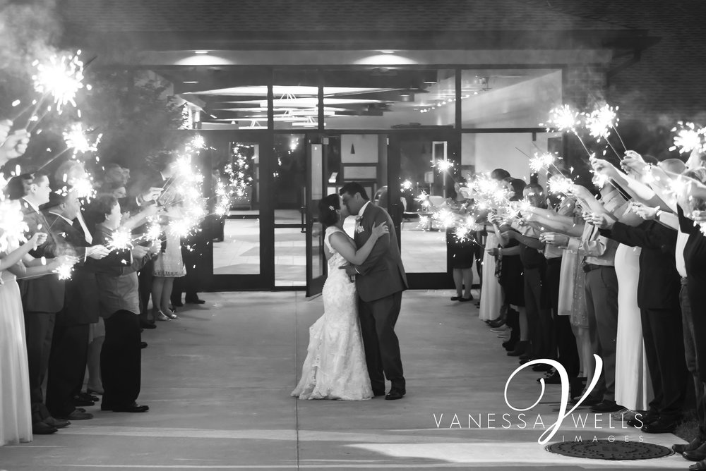 OKC Wedding Photographer, Sparkler exit