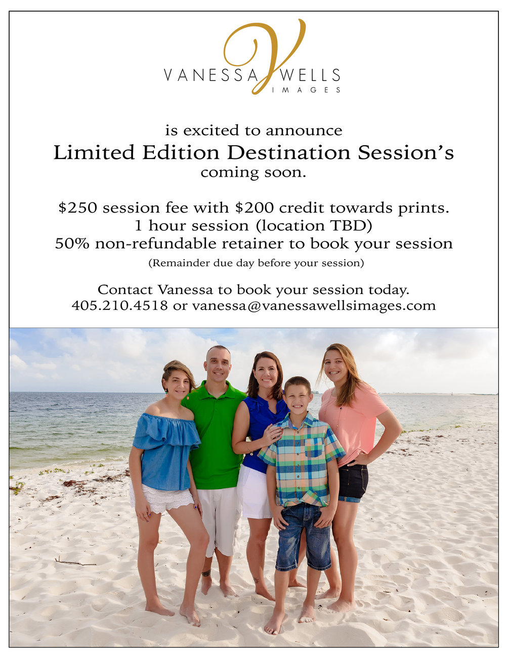 Limited Edition Destination Session