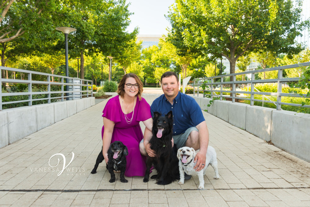 Family Session On Location with Fur Babies