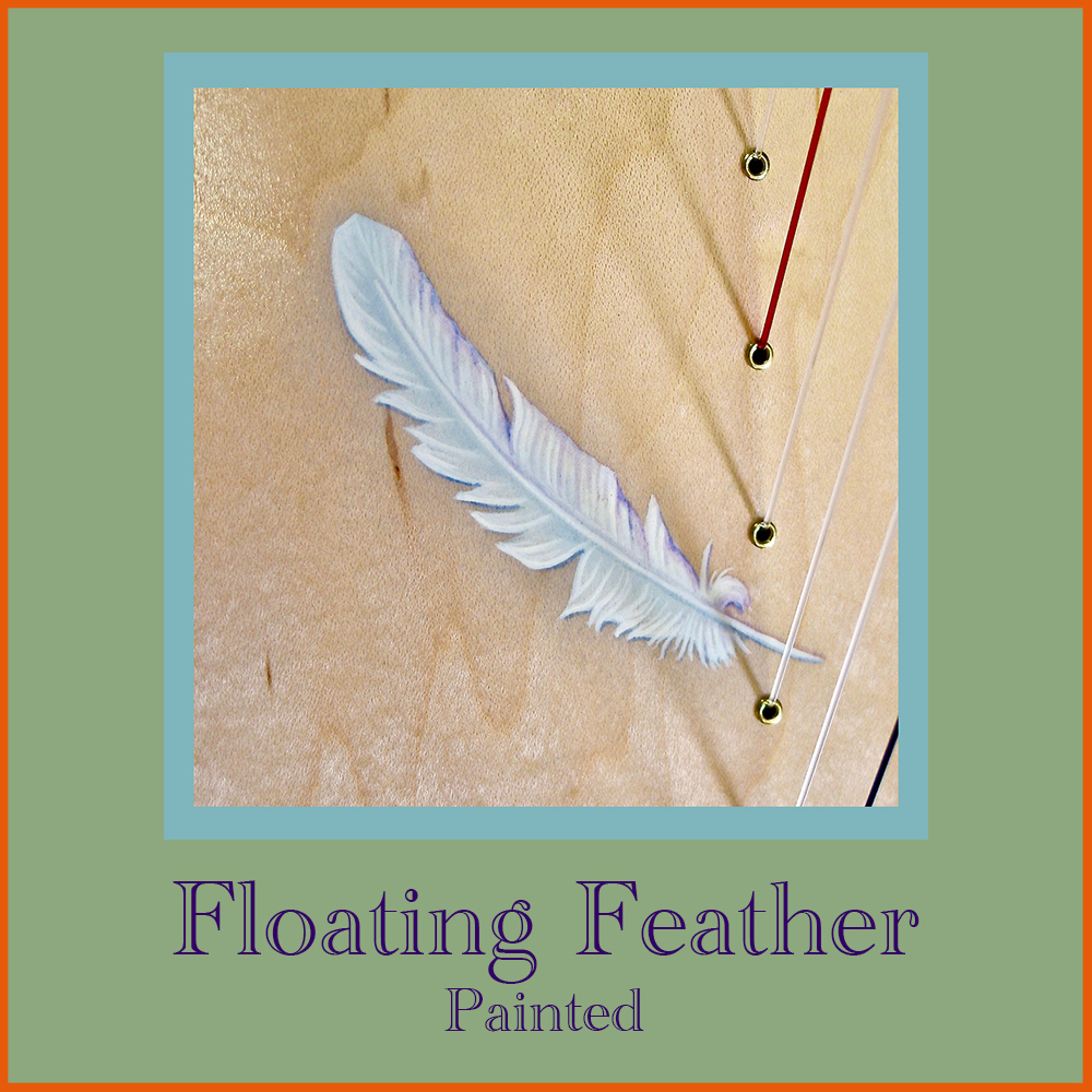 Floating Feather - Painted