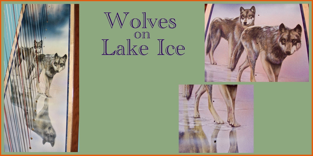 Wolves on Lake Ice