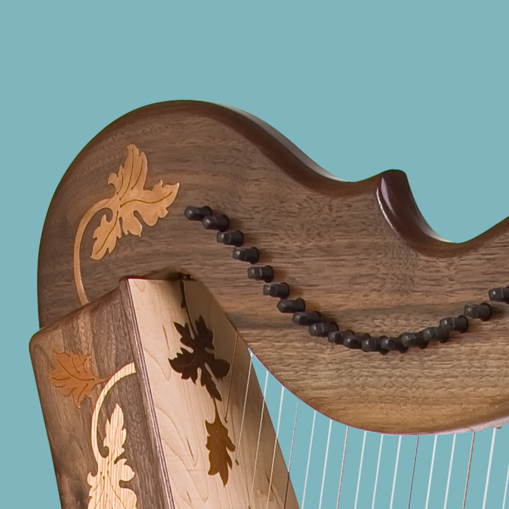 The Rees Aberdeen Meadows harp shoulder is a tiny 3.5 inches (8.9 cm) wide.