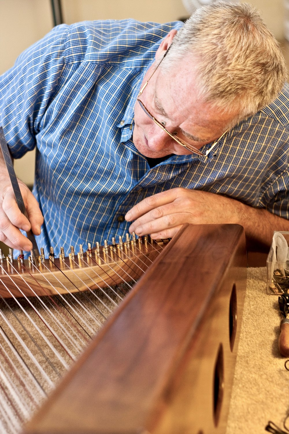 Master luthier, William Rees has been building harps since 1972.