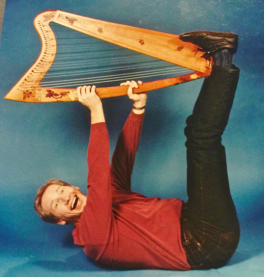 William clowns around with a Tuolumne Meadows Harp.