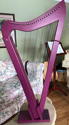 Fraudulent harp made as a copy of the Rees Harpsicle® Harp. (Photo provided by the person who made the unfortunate purchase.)