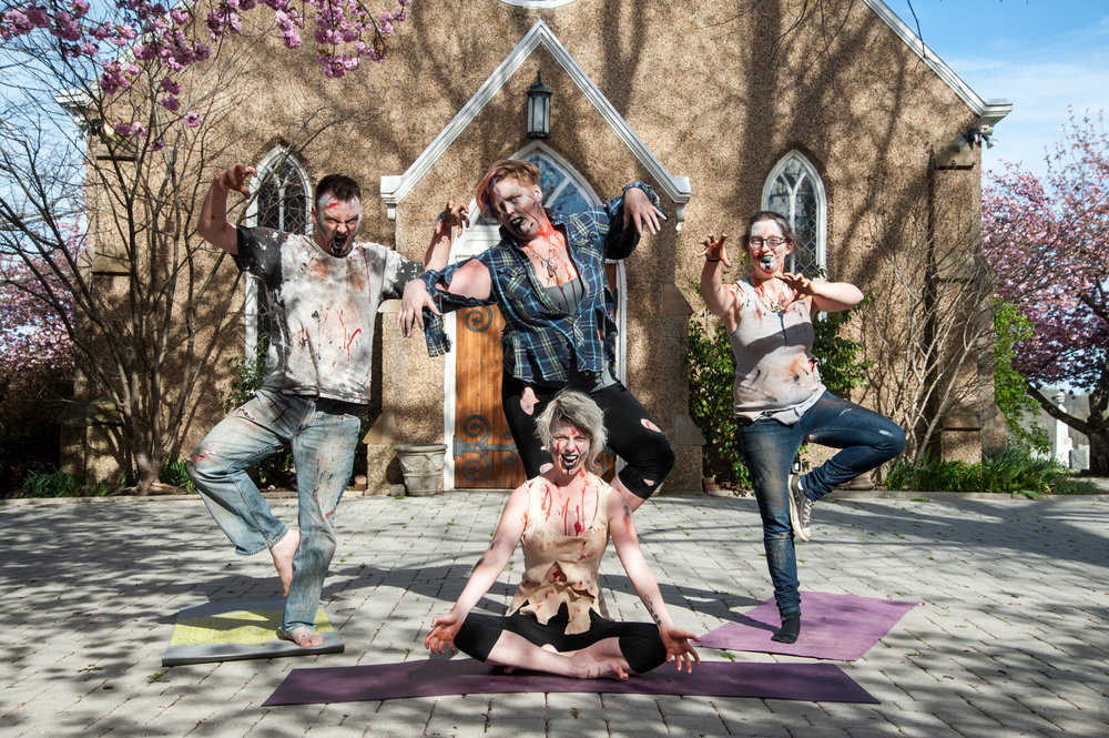 Zombie Yoga at Historic Congressional Cemetery. Credit: Rosa Pineda