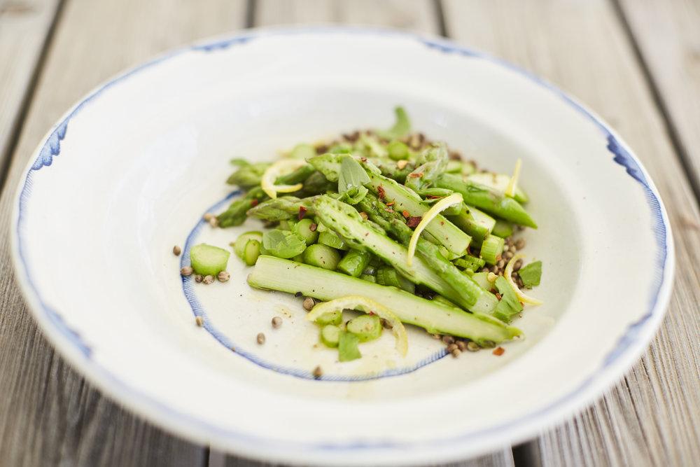 Buckwheat Grouts & Asparagus