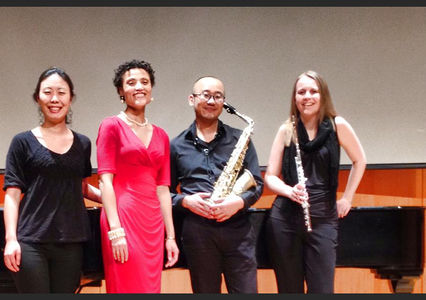 Bronwen Forbay (soprano), Masahito Sugihara (saxophone) and Jennifer Brimson cooper (flute), 2014