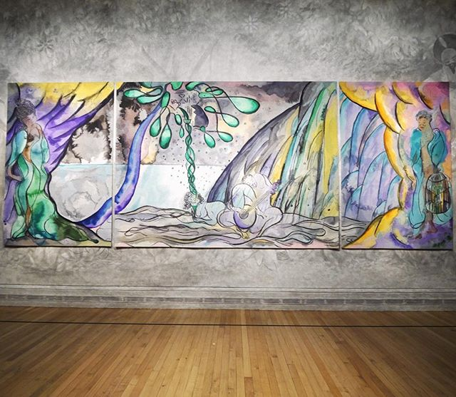 Finally managed to get to the Chris Ofilli tapestry @national_gallery and it was as stunning as anticipated