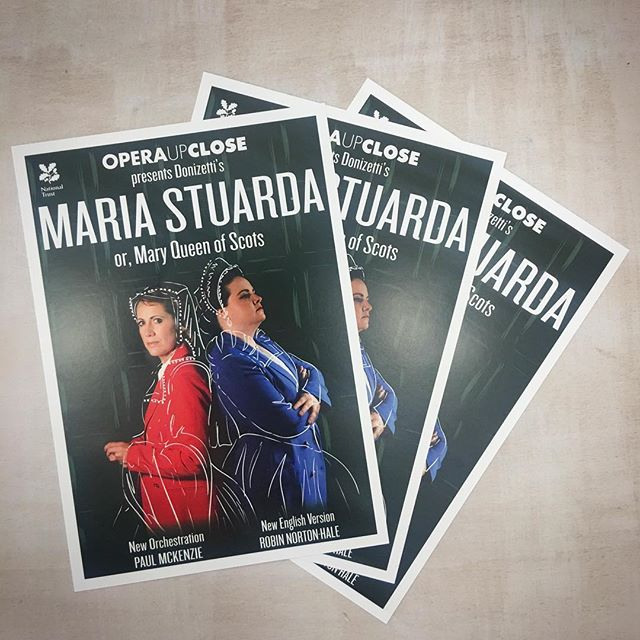 Flyers we produced with @operaupclose for #oucmariastuarda, coming to a @NationalTrust house near you this September. See you @suttonhousent! #opera