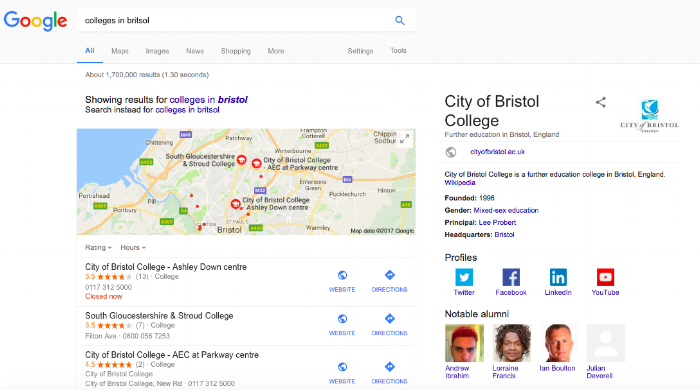 colleges in bristol