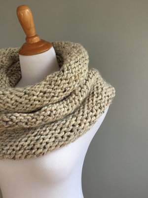 Simple Knit And Purl Cowl Pattern Knit Freely