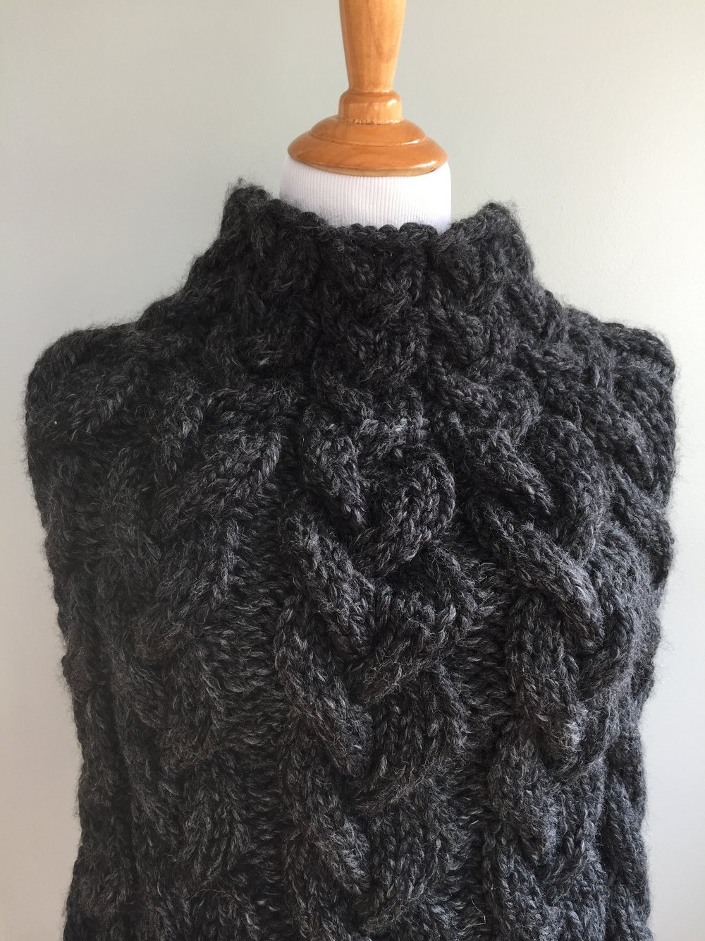All Cables Knit Poncho Pattern