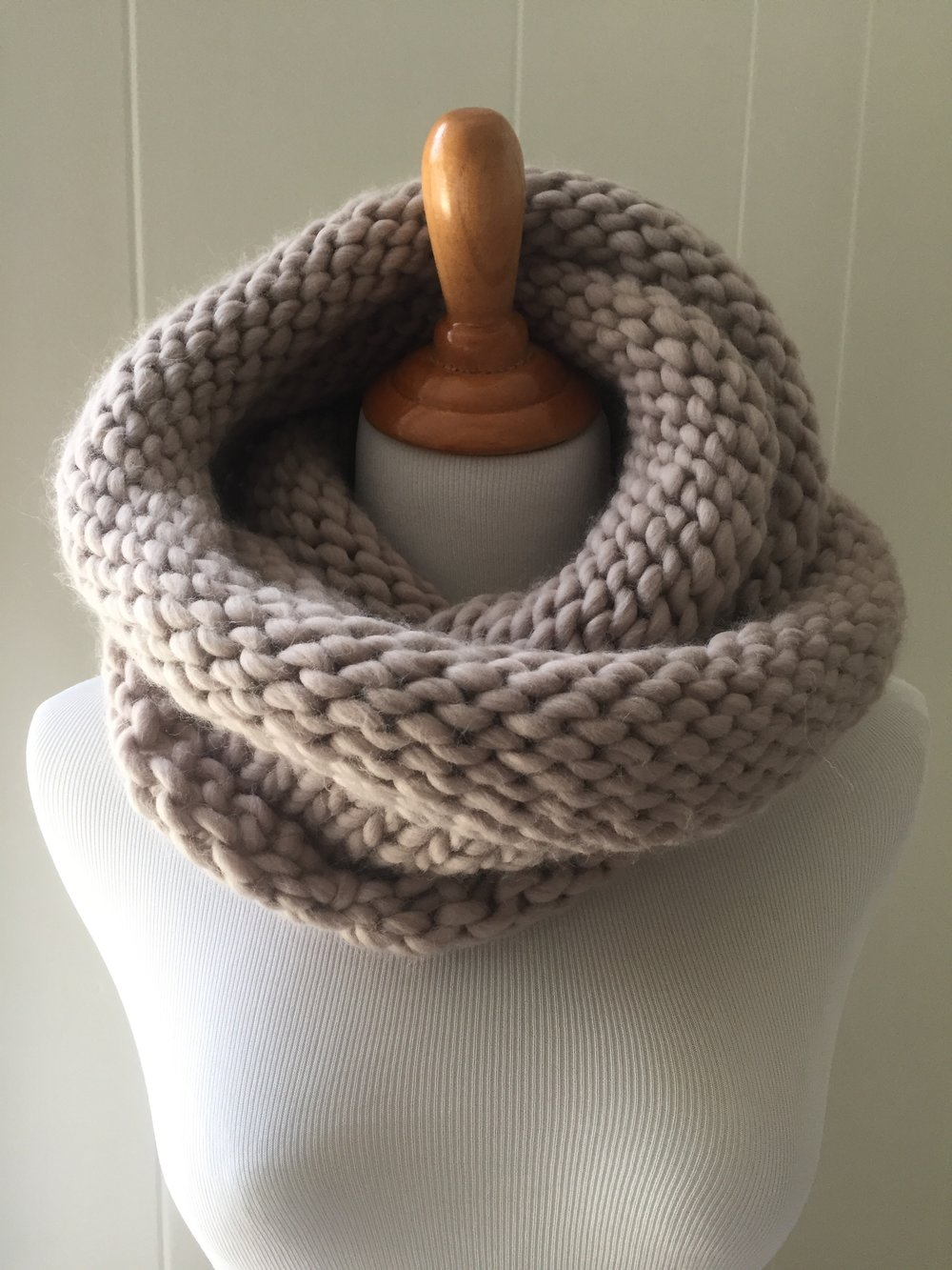 Double Loop Knit Purl Cowl Scarf