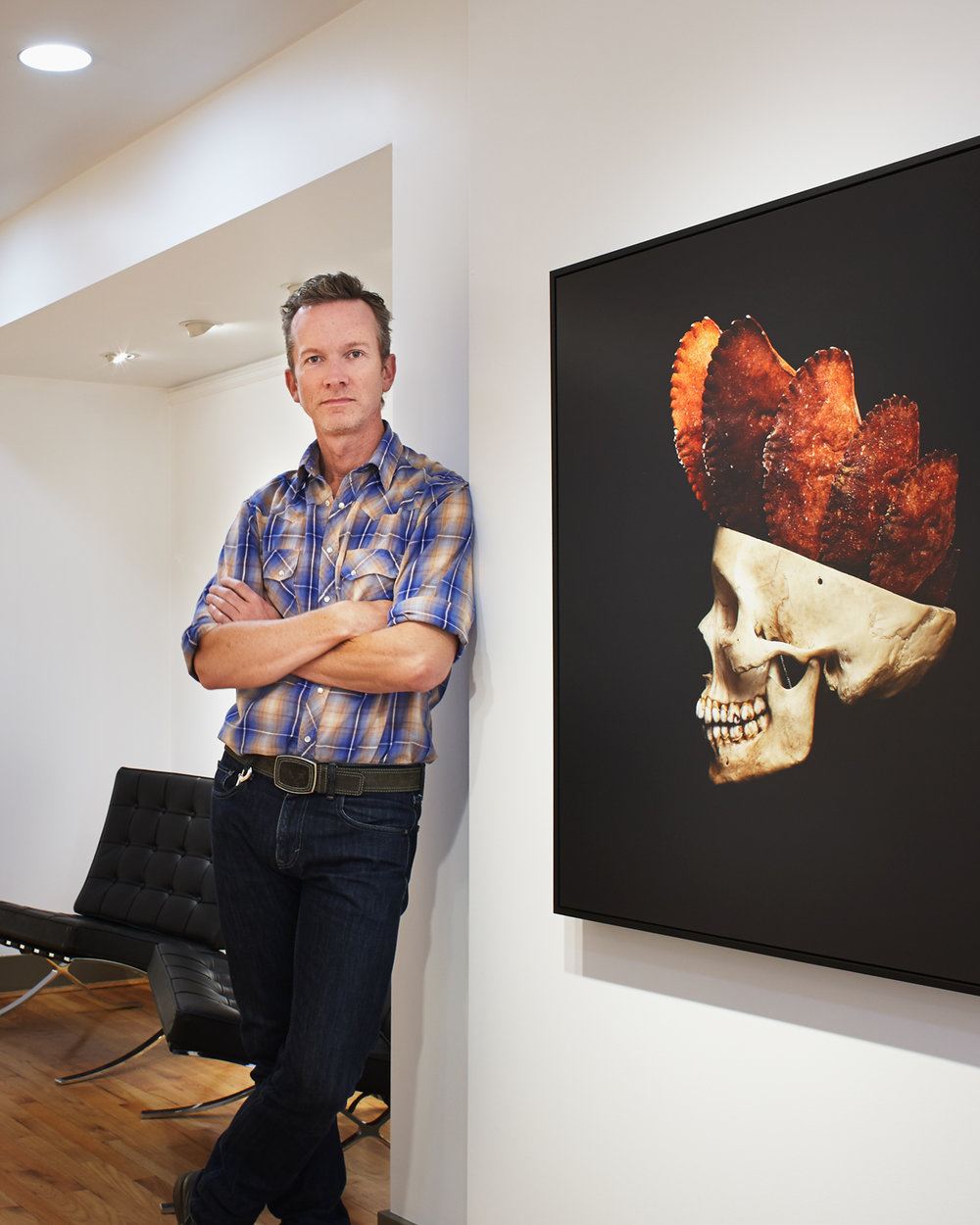 David at his  Anthropocene  exhibition at Winchester Galleries