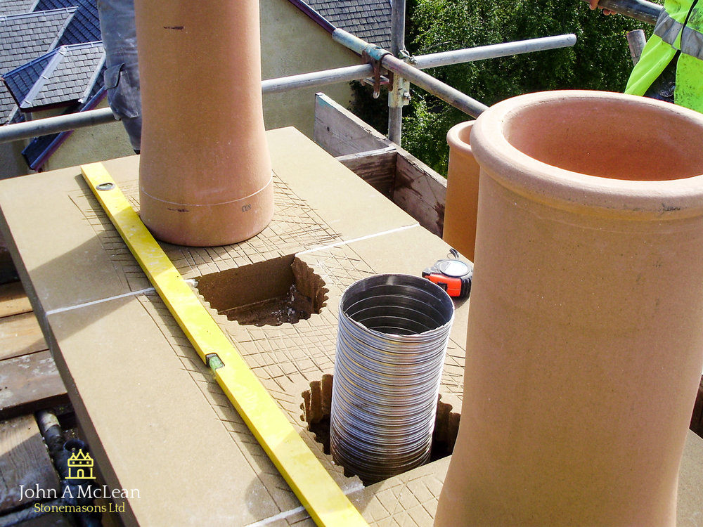 Ladys Walk Inverness - replacement of chimney head
