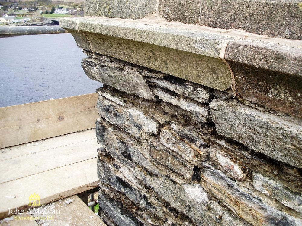 Eilean Donan - chimney restoration