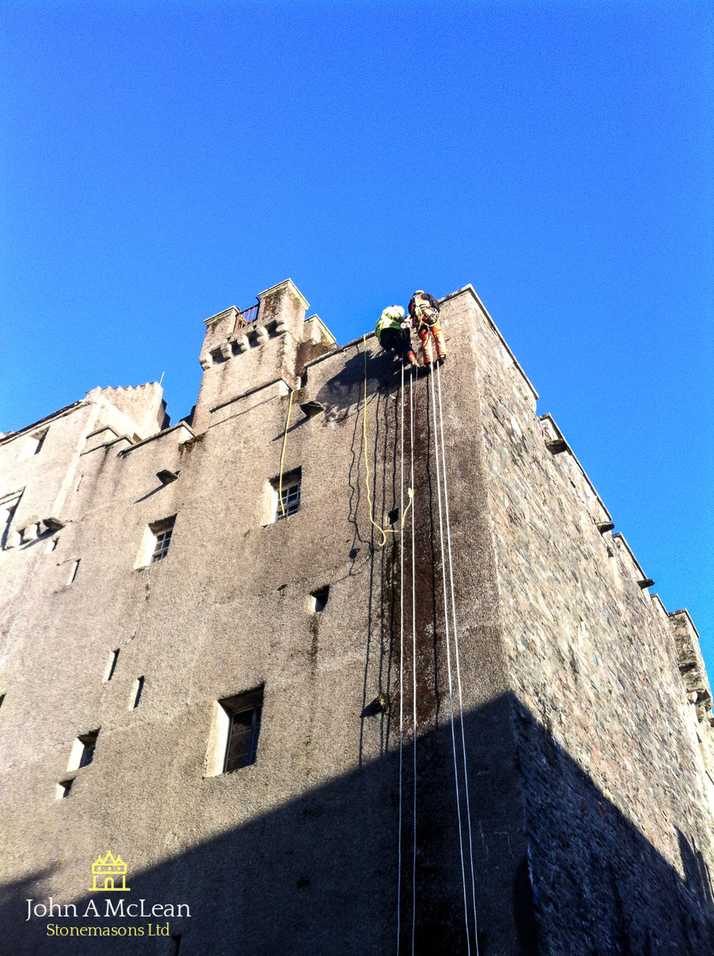 Eilean Donan Castle - inspection of main keep gable