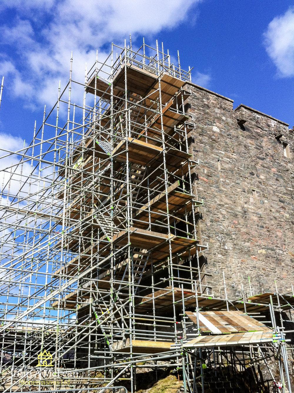 Eilean Donan Castle - main keep gable works