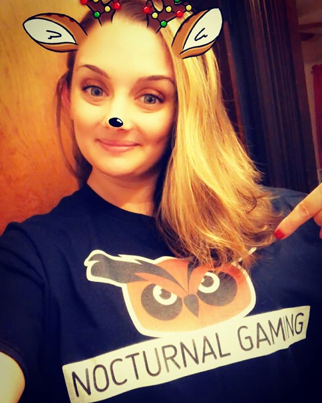 Check out Jess rocking the new Nocturnal Gaming Tee!  Get yours at-  https://shop.spreadshirt.com/nocturnal-gaming-apparel-/ 15% off all orders until Dec 17th!  #clothing #apperal #brand #nerdwear #nerd  @thekinghasspoken