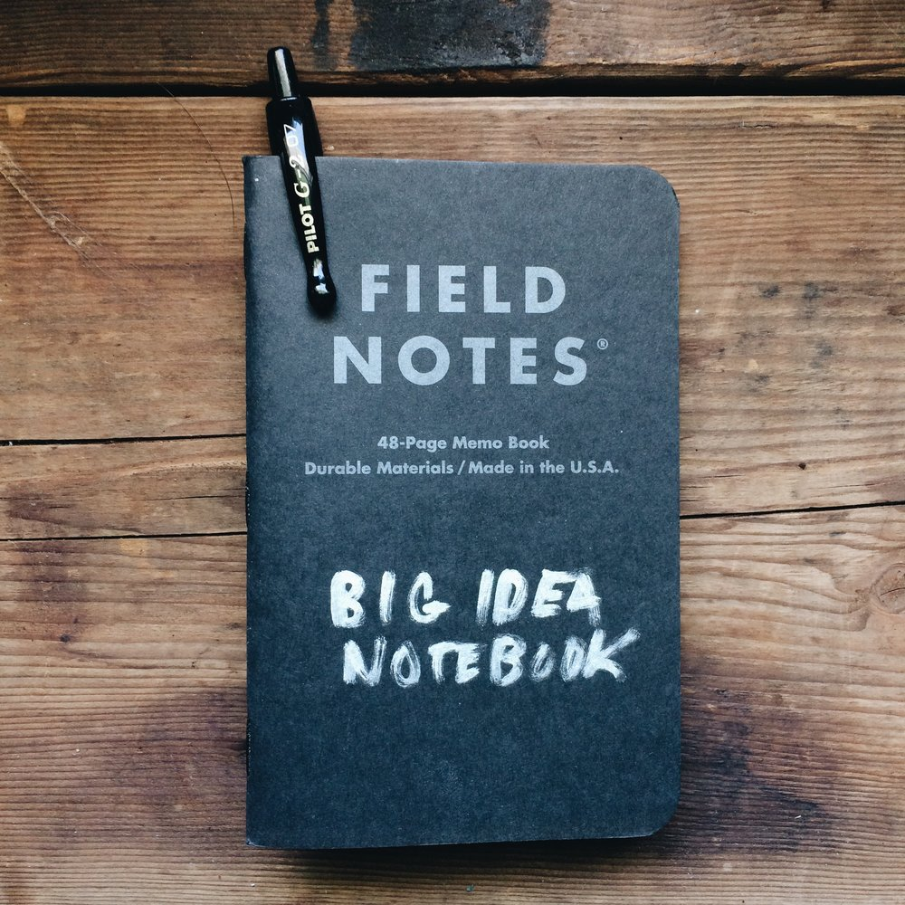 My Field Notes pocket book transformed into my Big Idea Notebook
