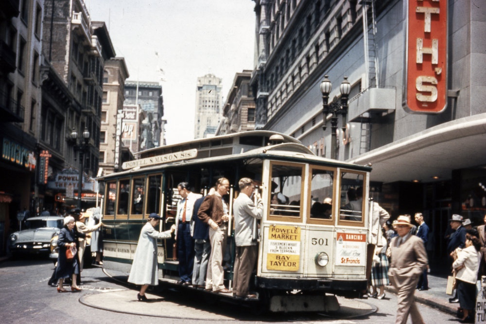 Cable Car on Turntable at Powell and Market