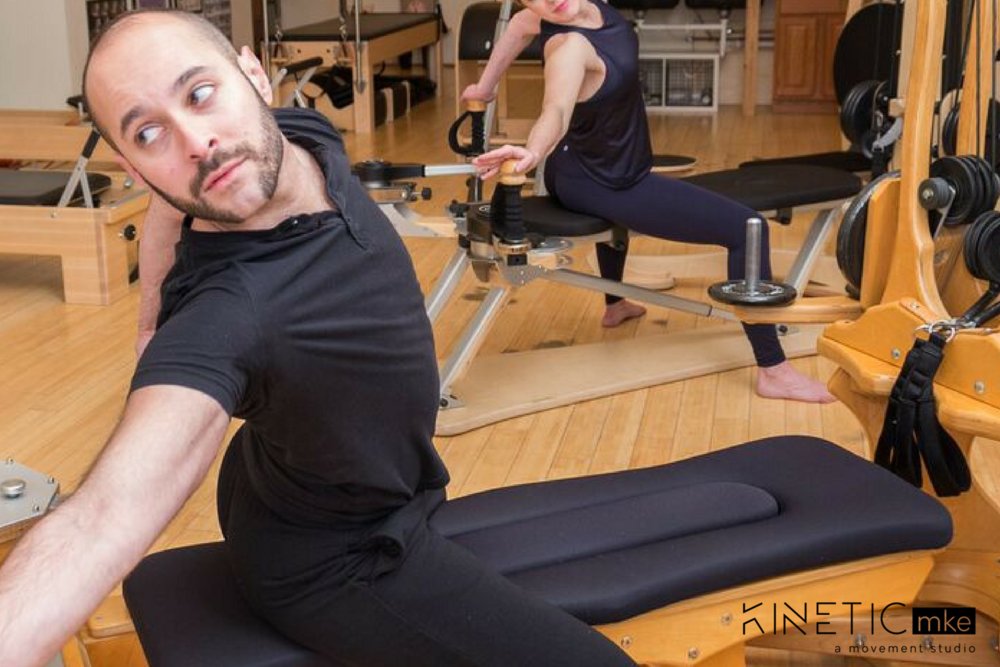 """After years of performing at sea, David was recommitting himself to """"land life"""" in Milwaukee, Wisconsin. This is where he was introduced to Trey Fry and GYROTONIC®. This was also the start to his own wellness journey."""