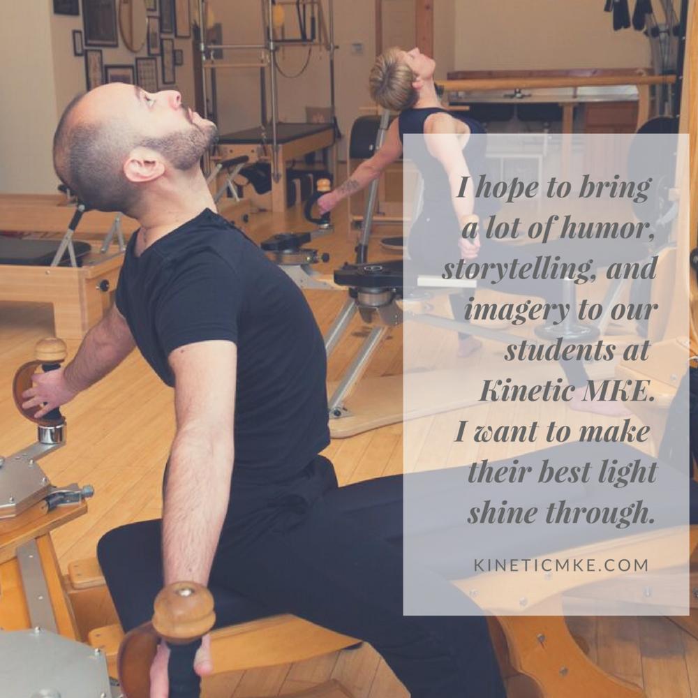 Gyrotonic Teacher David Roman Kinetic MKE