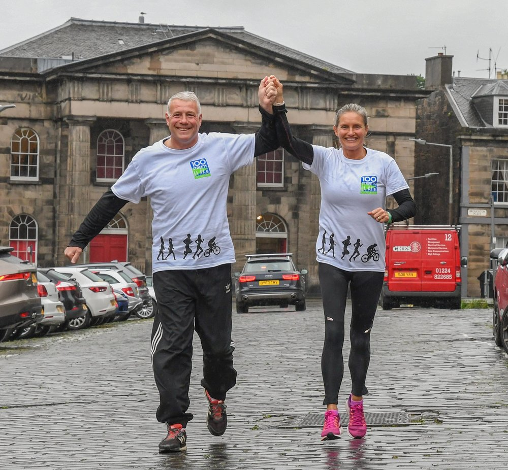 Jenny & Scott   Support in Mind Scotland's Charity Ambassadors Jenny and Scott Hastings led the inaugural 100 Streets Challenge and have taken part enthusiastically every year since!