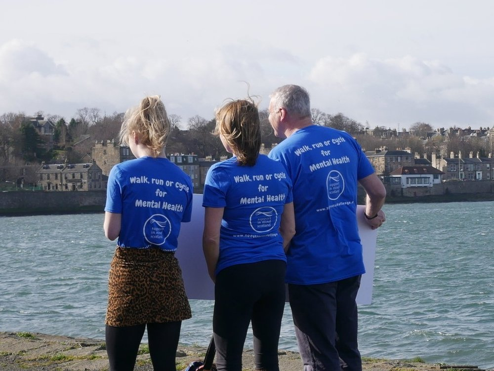 New look t-shirts for 2019! Walk, run or cycle 100 Streets for mental health.