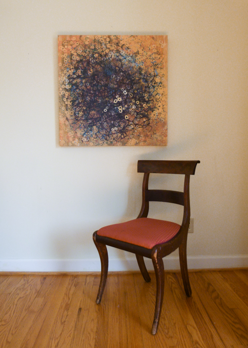 - Gallery wrap canvas at home. For similar pieces, see my Art Shop
