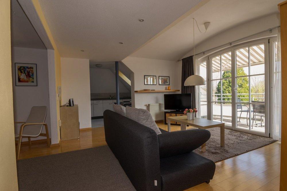 Apartment / Wohnzimmer / Balkon / Terrasse / Küche