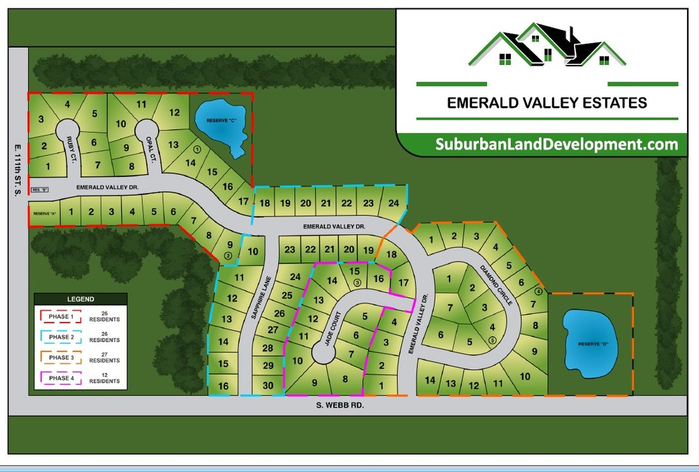 Upon Completion of Phase 1 Emerald Valley Estates will be offering three additional phases of New Home Construction!