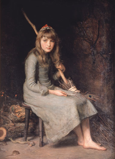 """Cinderella"" by Sir John Everett Millais"
