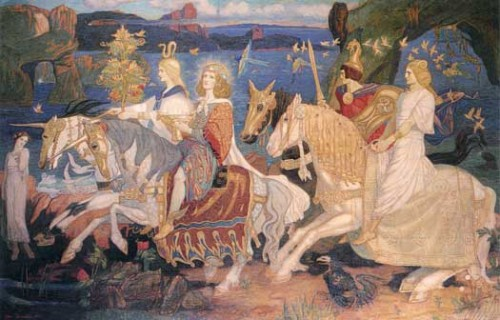 """The Riders of the Sidhe"" by John Duncan"