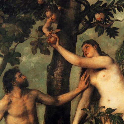 """Adam and Eve"" by Vecellio Tiziano, c. 1550"