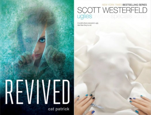 Book covers for Revived by Cat Patrick, and Uglies by Scott Westerfeld